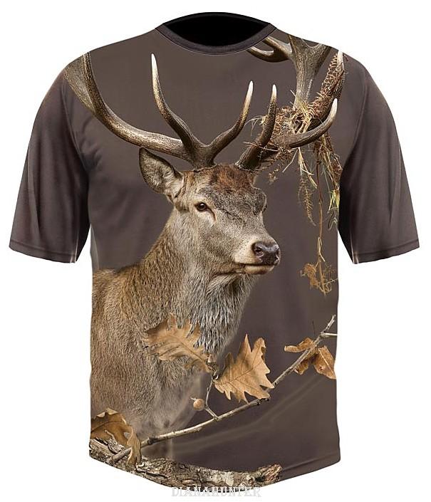 6ab3454706 Poľovnícke tričko Jeleň DGT